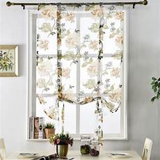 tende per cucina foto flower floral treatment sheer kitchen tulle