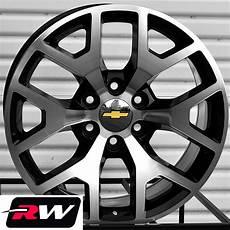 silverado oe factory replica wheels 24 quot inch black machined gmc 2014 rims ebay