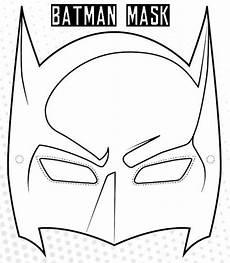 ausmalbilder batman mask batman maske vorlage