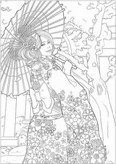 japanese celebrating hanami japan coloring pages