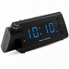 Time Projection Dual Alarm Timing Date by Electrohome 174 Usb Charging Alarm Clock Radio With Time