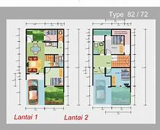 34 Denah Terbaik Rumah Minimalis 2 Lantai Rumahku Unik