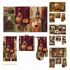 Themed Kitchen Floor Mats by Casual Kitchen Accessory Printed Mat Towel Oven Mitt Pot