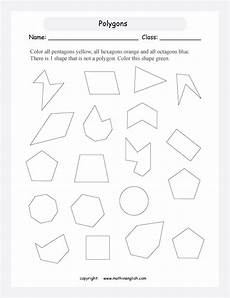which shapes are a pentagon a hexagon or a octagon count the sides and color those shapes