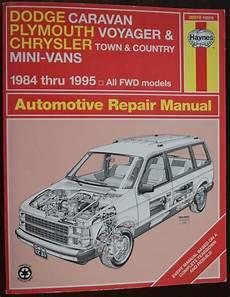 hayes auto repair manual 1995 plymouth grand voyager interior lighting dodge caravan plymouth voyager chrysler 1984 1995 haynes auto repair manual mini van