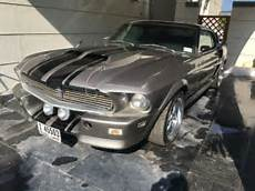 grey mustang mach 1 eleanor gt classic muscle car