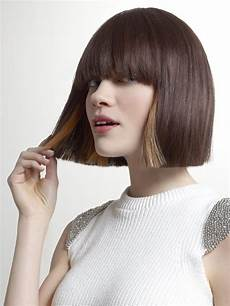 two tone bob hairstyles two toned bob with a cutting line and soft fringe
