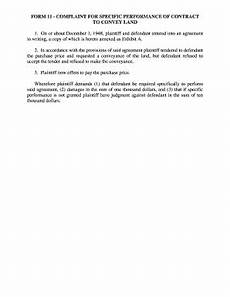 fillable online mncourts form 11 complaint for specific performance of mncourts fax