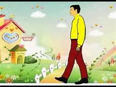 Animasi Asep Sudrajat Orang Berjalan Dengan Background