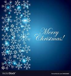 merry christmas blue card snowflake lights vector image