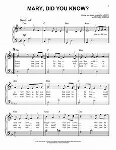 mary did you know sheet music by mark lowry easy piano 173410