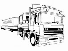 Ausmalbilder Lkw Daf Daf Vrachtwagen Kleurplaat Kleurplaat Kleurplatenl