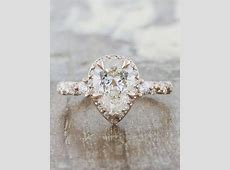 Nolah: Pear Shaped Diamond in Rose Gold Twisted Band   Ken