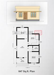 649 sqft low budget 2 bedroom home design four low budget small house plans from 490 sq ft 45 53