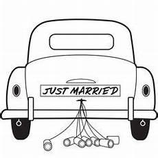 Malvorlagen Hochzeit Auto Das Hochzeitsauto Cabrio Ausmalbild Aus Der Kategorie