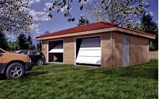 garage 2 places garage bois 2 voitures livr 233 gratuitement en kit mod 232 le 42m 178