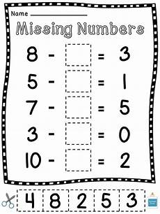 missing number worksheets addition and subtraction 8781 missing subtrahends and minuends numbers in subtraction problems cut and pastes subtraction
