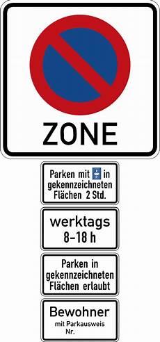 Beschilderung Anwohnerparken Deutschland Verkehrszeichen