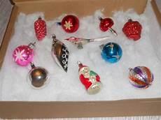 Ancienne Boule De Noel Palla Di Natale En Verre