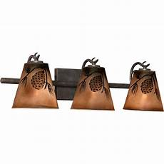 Lodge Bathroom Vanity Lights by Rustic Bathroom Light Fixtures Great Evergreen Rustic