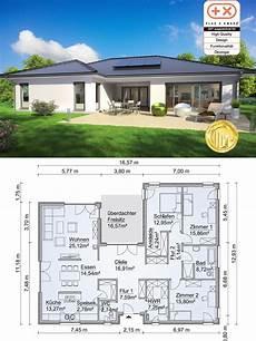 Bungalow Haus Modern Grundriss In Uform Mit Walmdach