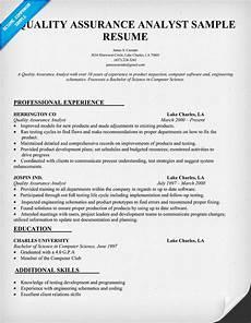 resume format qa analyst resume sles