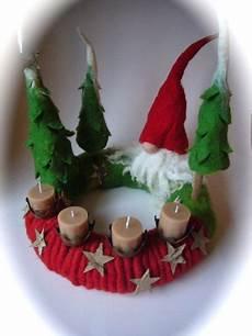 adventskranz gefilzt filz weihnachtsbasteln basteln
