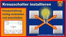 kreuzschaltung aus schaltplan elektroinstallation