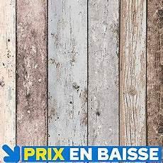 Papier Peint Vinyle Sur Intiss 233 Planche Marron Bleu