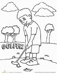 mini golf colouring pages page 2 happy family golf