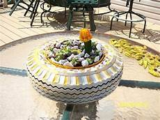 Tisch Aus Autoreifen - diy garden decoration ideas with car tires flower