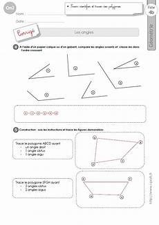 Cm2 Exercices Les Angles G 233 Om 233 Trie Cm2