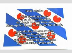 Ansichtkaart vlag folksliet   friese producten.nl