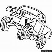 4x4 Truck Coloring Page  Color 4x4s Online