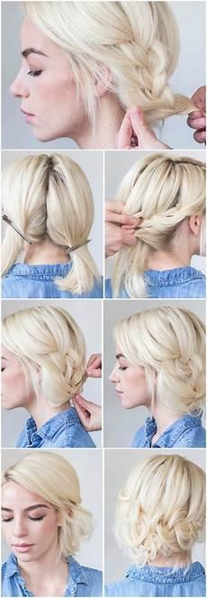 Abendfrisuren Selber Machen Geflochte Kurze Haare Blond