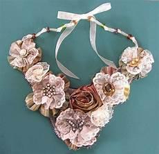 collane con fiori di stoffa collane fai da te in stoffa collana con fiori di stoffa