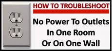 no power to outlets in one room or wall how to troubleshoot removeandreplace com
