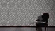 mustertapete grau livingwalls mustertapete moments vlies grau metallic