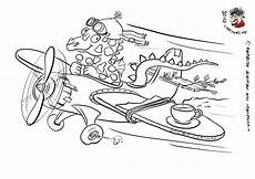 malvorlage flugzeug comic karikaturen