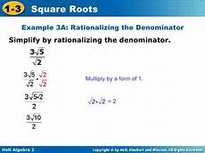 algebra 2 9 19 simplifying square roots