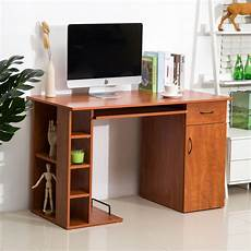home office computer desk study pc table w storage printer shelves keyboard tray 692753975256 ebay