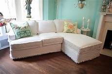 sofa shabby chic shabby chic sectional sofa vintage by vintagechicfurniture