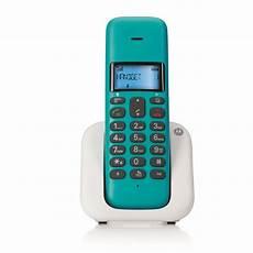 telephone fixe sans fil t301 turquoise dect design noriak