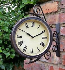 bank station outdoor garden home wall clock with led light ebay outdoor garden wall station clock temperature with