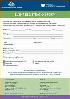 registration form template word free inspirational