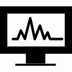 analytics chart a monitor screen icons free download