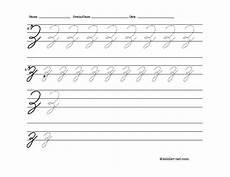 free printable cursive letter z worksheet