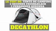 decathlon tente 2 personnes le test de tente de cing 2 seconds fresh black 2
