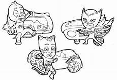 Car Coloring Sheets Yang Bagus Pj Masks In Coloring And Sticker Pages