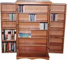 solid wood cd dvd cabinet rack 612 cd 298 dvd new